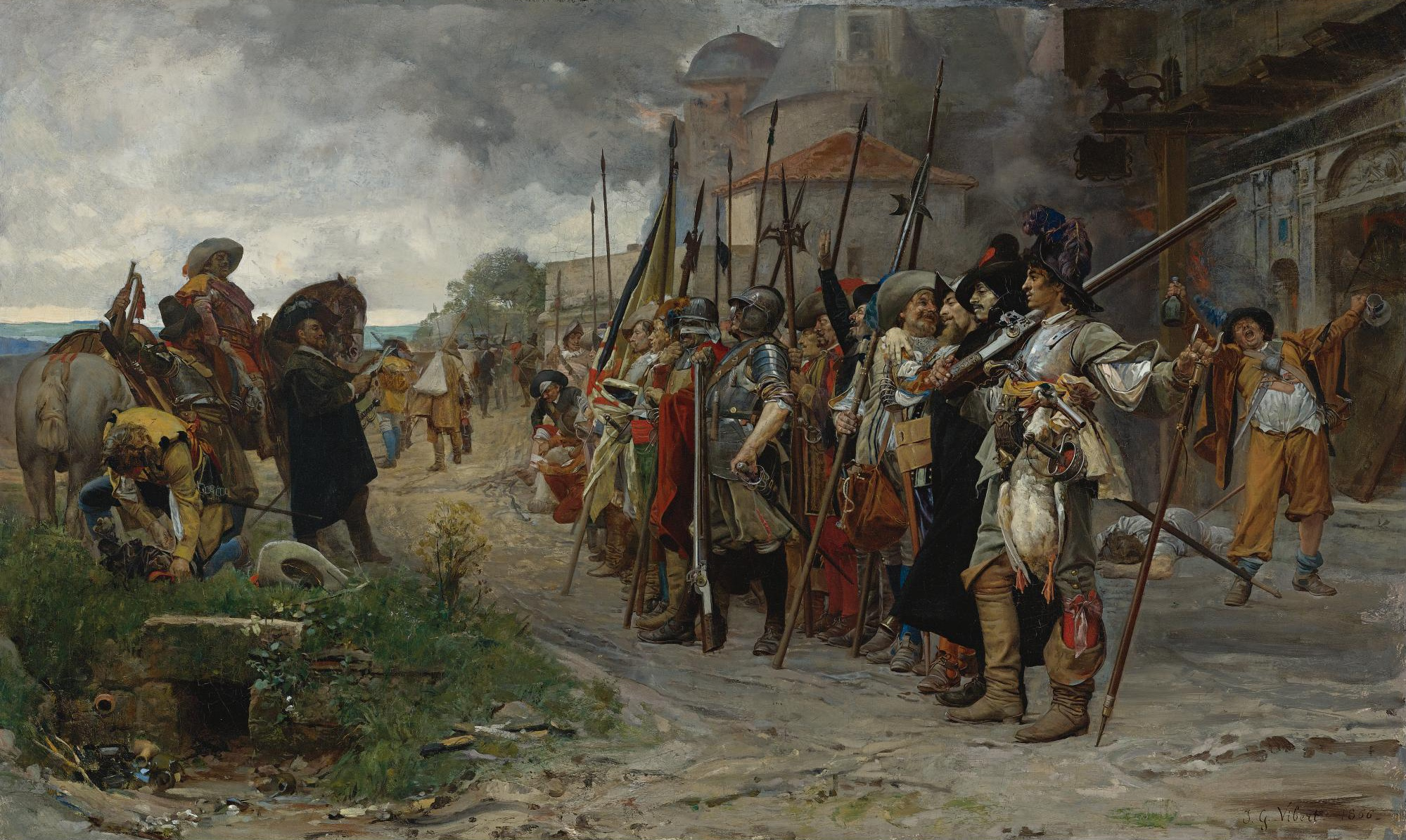Jehan-Georges_Vibert_-_L'appel_après_le_pillage_(1866)