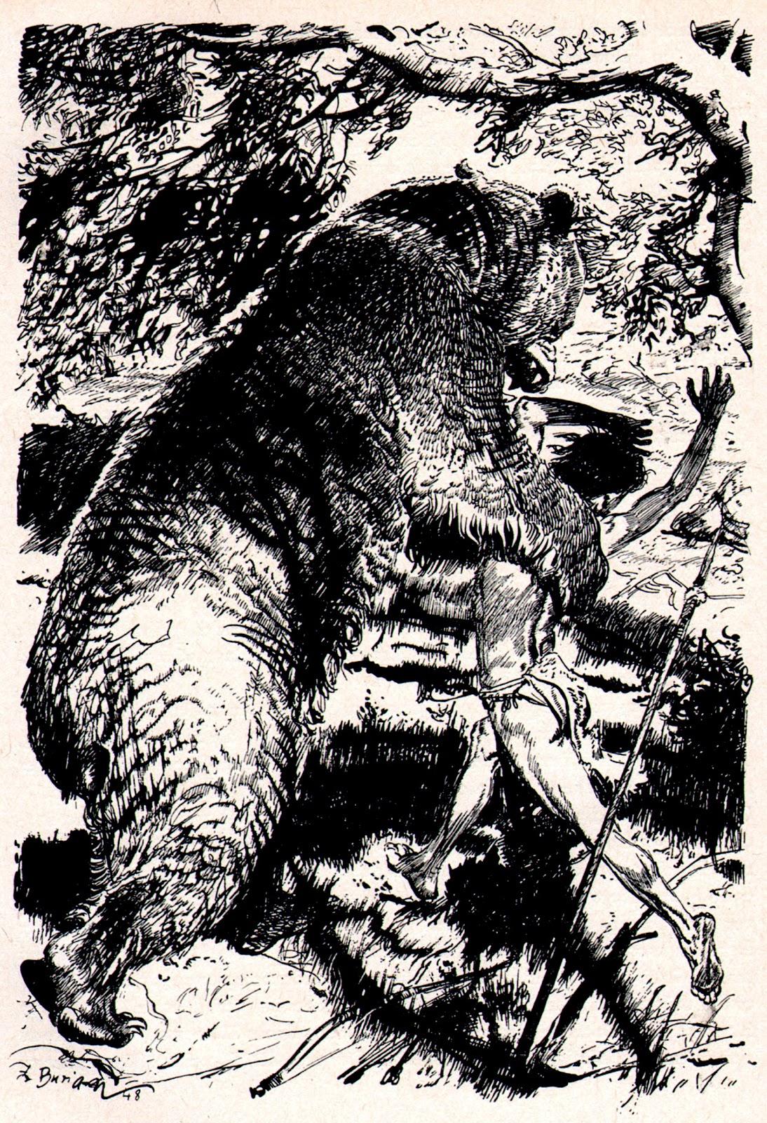 bear_attack_by_zdenek_burian_1962