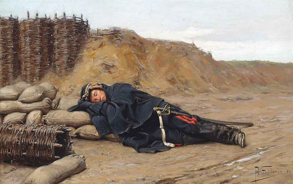 paul-louis-narcisse_grolleron_a_sleeping_napoleonic_soldier_d5821841g