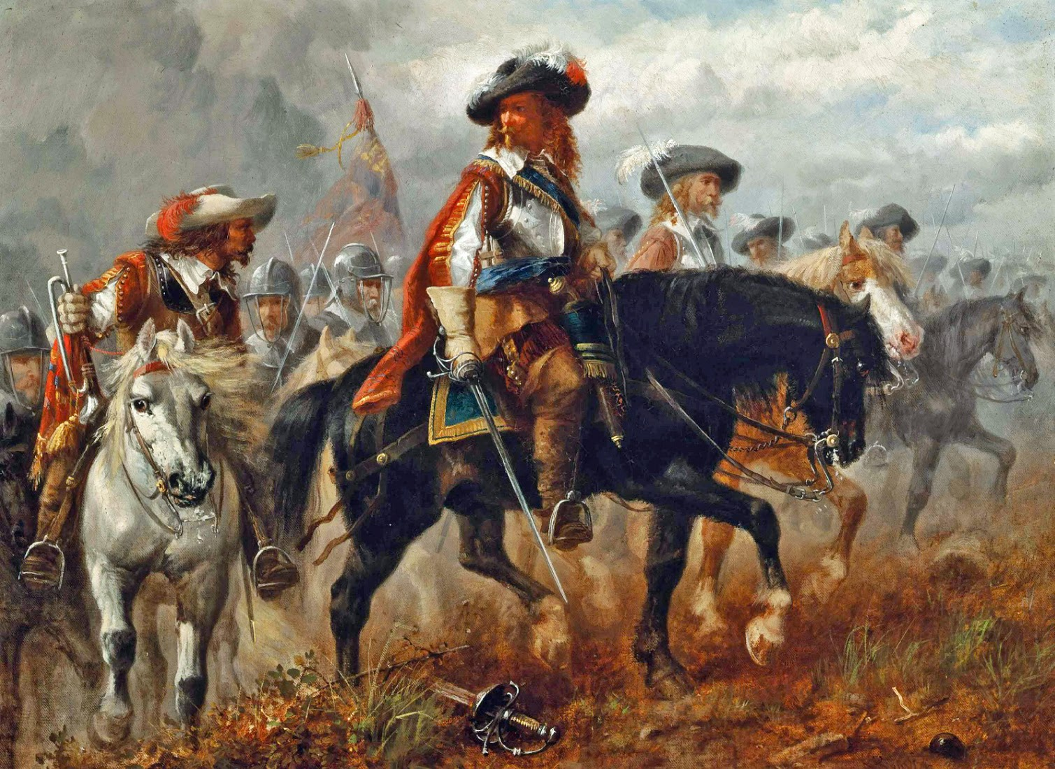 Richard Beavis - The King's Cavalry Moving into Position for a Charge at Naseby