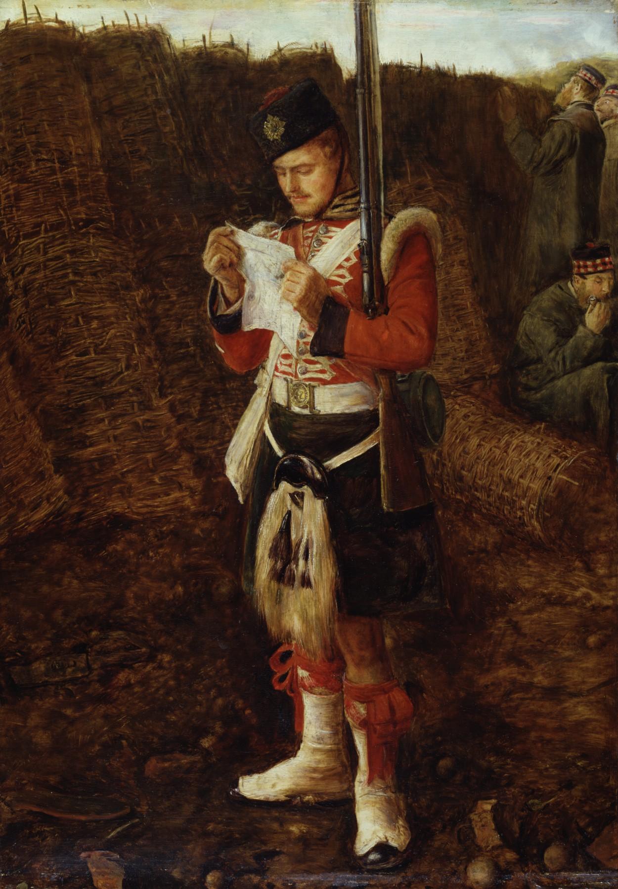 Letter From Home' by the artist John Everett Millais