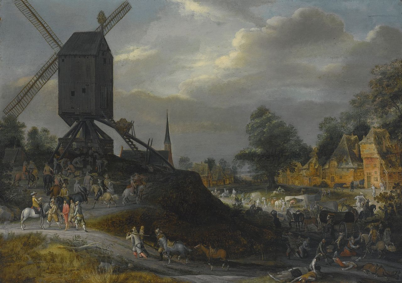 1280px-Pieter_Meulener_Sack_of_a_Flemish_Village_by_Spanish_Soldiers