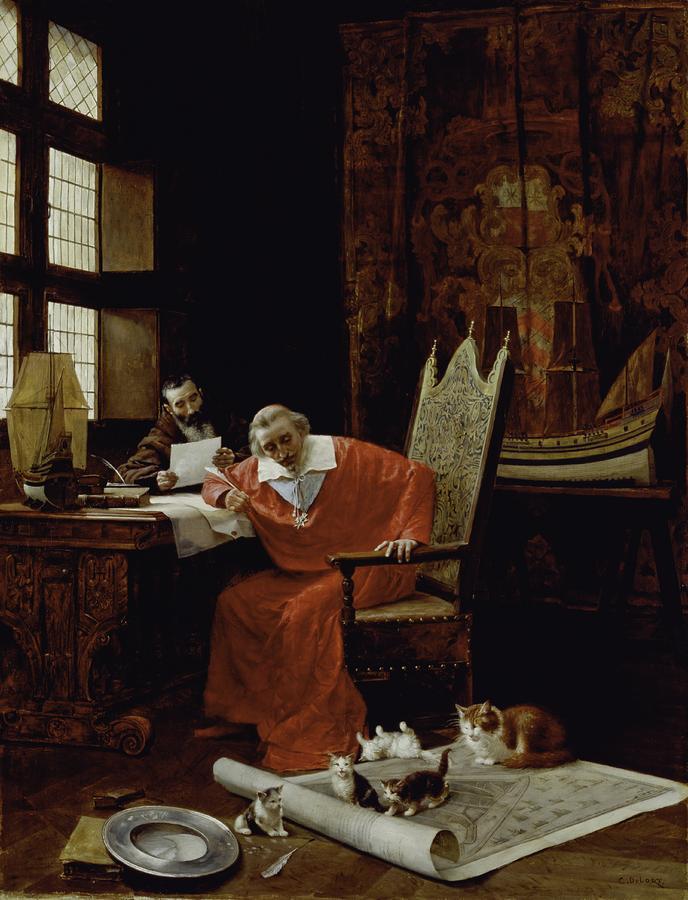 Шарль Эдуард Делор. Отдых кардинала Ришелье, ок. 1885