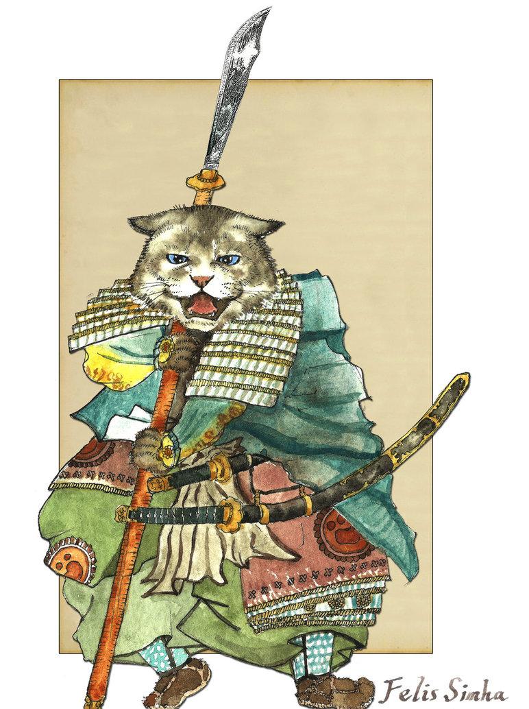 Классные картинки кота самурая, днем свадьбы