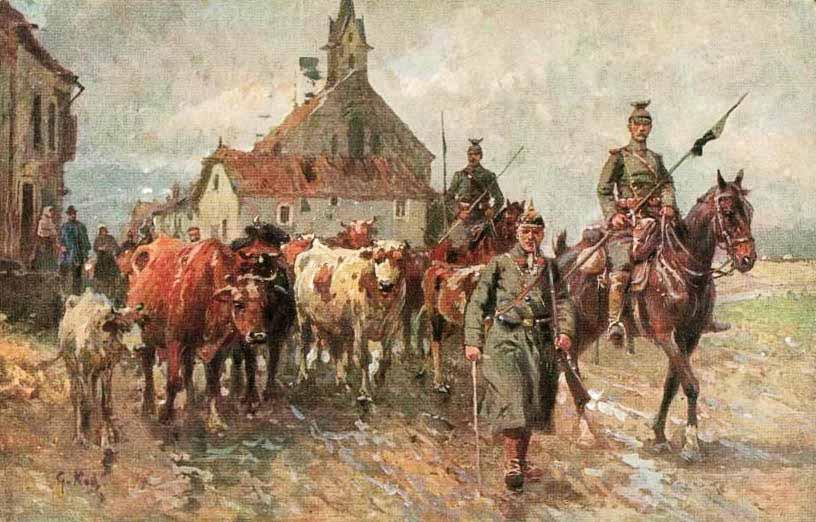 Szenerie Deutsch Französischer Krieg - Georg Karl Koch