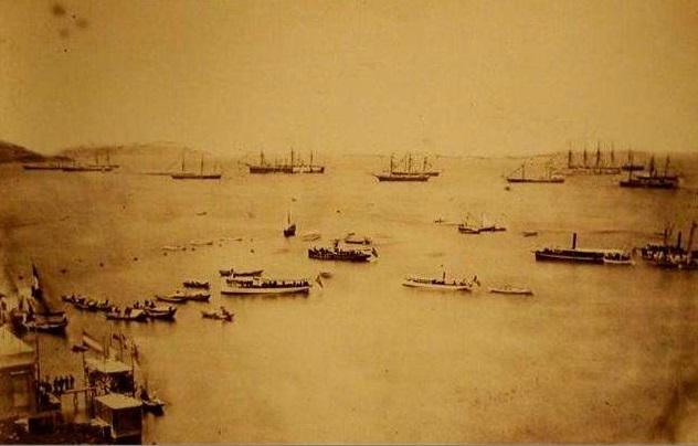 Британская эскадра в Мраморном море