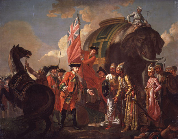 616px-Robert_Clive_and_Mir_Jafar_after_the_Battle_of_Plassey,_1757_by_Francis_Hayman