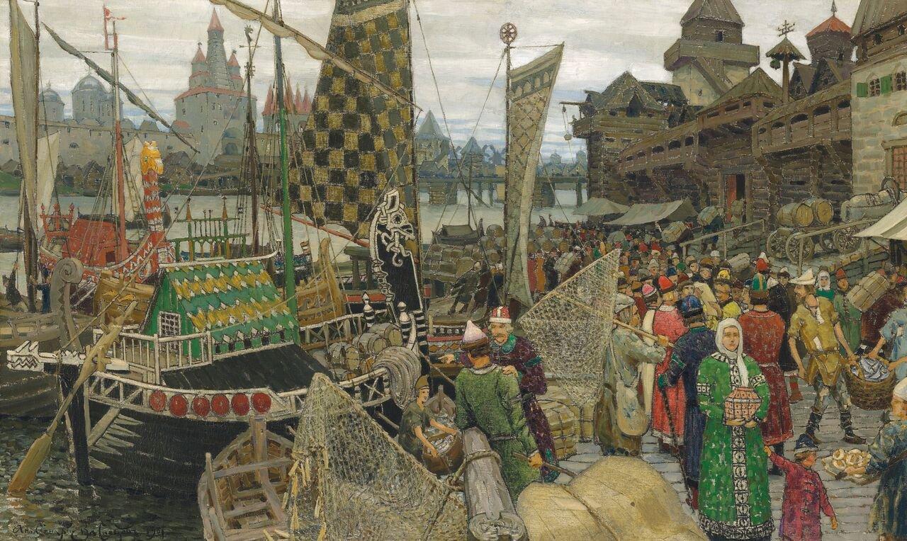 Аполлинарий Васнецов_Прошлое Великого Новгорода_ 1901