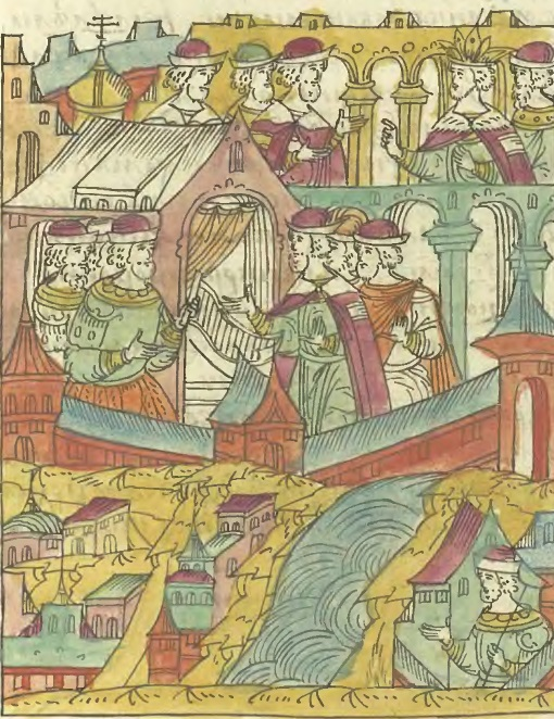 Датские послы в Москве. Миниатюра из Лицевого летописного свода