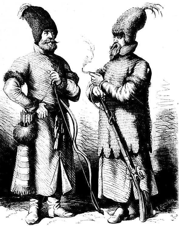 Литовские воины. Рис. Ю. Коссака (кон. XIX в .)
