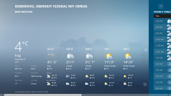 weather (win8)