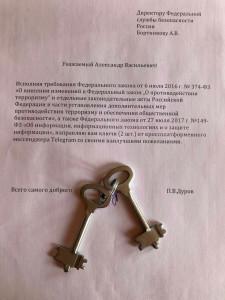 ключи от телеграма