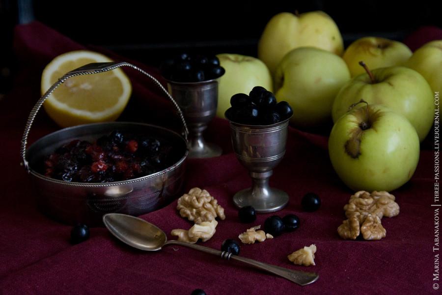 яблоко и черноплодная рябина в сочетании