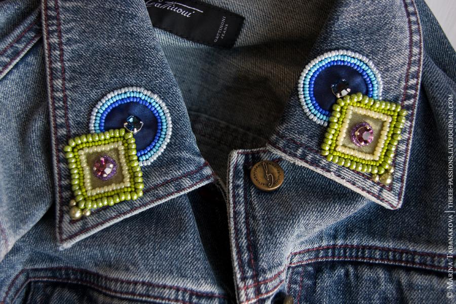 Как на джинсовую куртку стразами своими руками