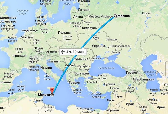 Схема полета в болгарию