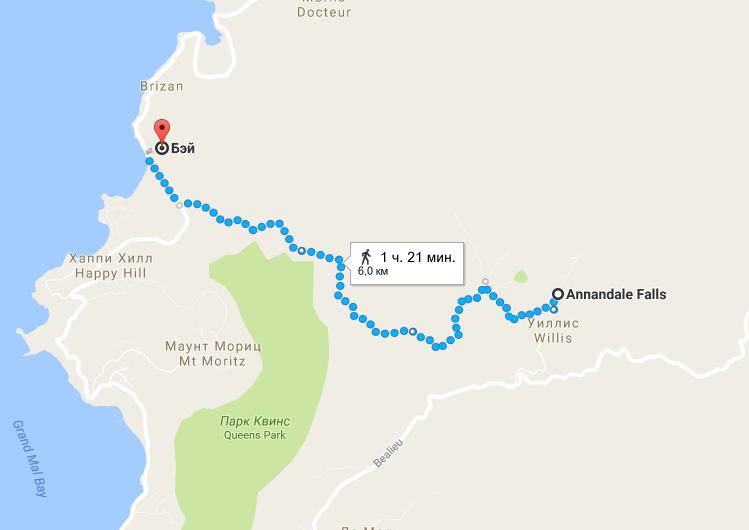 Гренада - Возвращение в столицу по закрытой дороге -