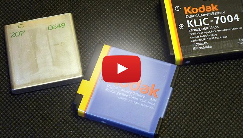 Kodak KLIC-7004, KLIC-7005, Fujifilm NP-50, NP-50A, NP-40, Pentax D-LI68, D-LI122, D-LI8, Panasonic CGA-S004, Samsung SLB-0737