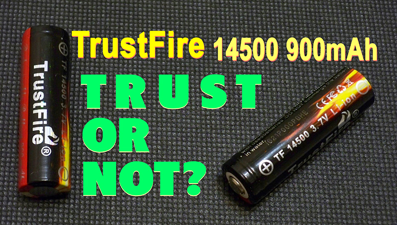 TrustFire 14500 900mAh 3.7V Li-ion battery cell