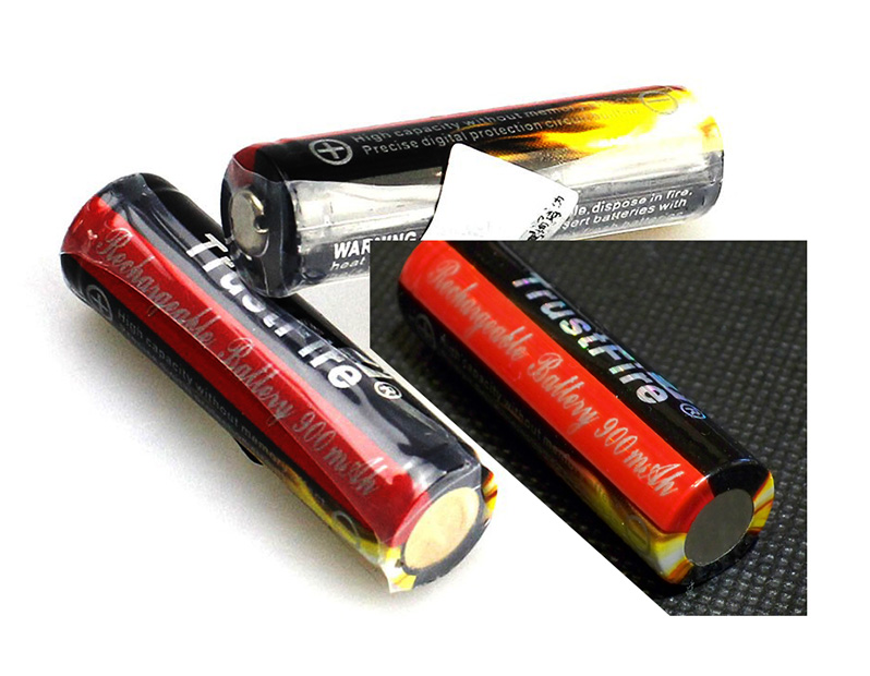 TrustFire 14500 900mAh 3.7V Li-ion battery cell обзор тест емкости