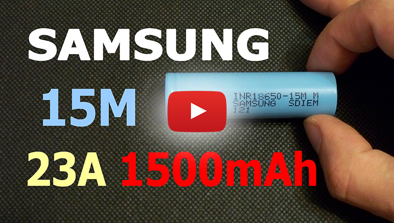 Samsung INR18650-15M Samsung 15M Li-ion battery capacity test