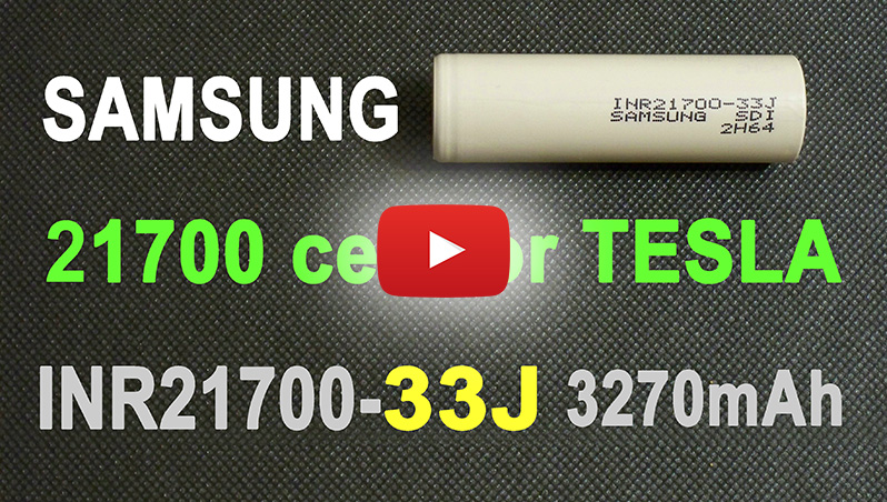 Samsung INR21700-33J battery for Tesla 21700 cell 33J