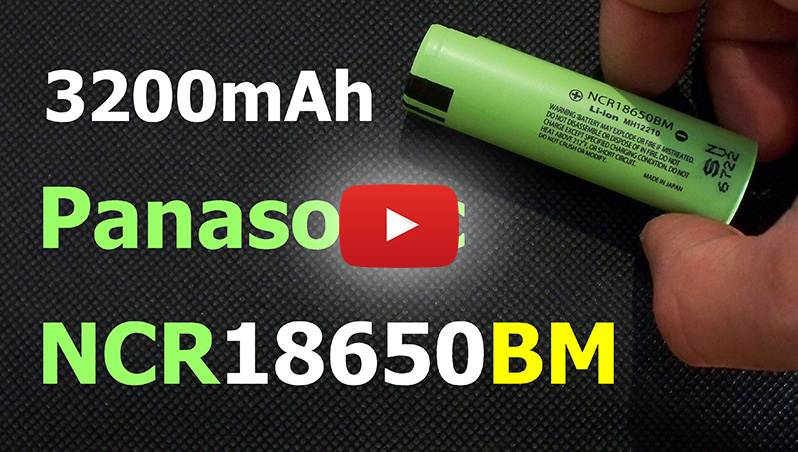 Panasonic NCR18650BM Li-ion 18650 cell battery discharge capacity test