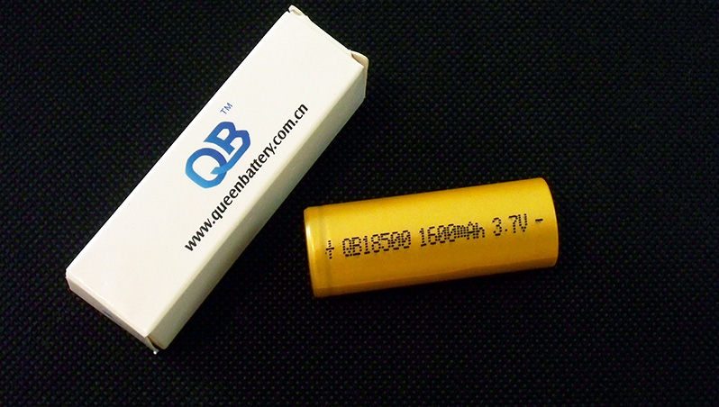Queen Battery QB18500 1600mAh battery cell capacity test