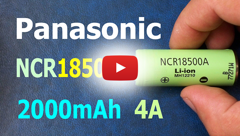 Panasonic NCR18500A 2000mAh 18500-size Li-ion cell's capacity test | Thunderheart reviews