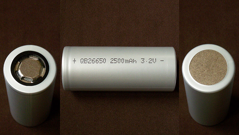Queen Battery QB26650 2500mAh LiFePO4 cell's test + comparison with A123 Systems ANR26650M1B
