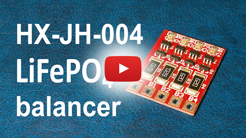 HX-JH-004 4S 12V LiFePO4 balancer board test review | Thunderheart Reviews