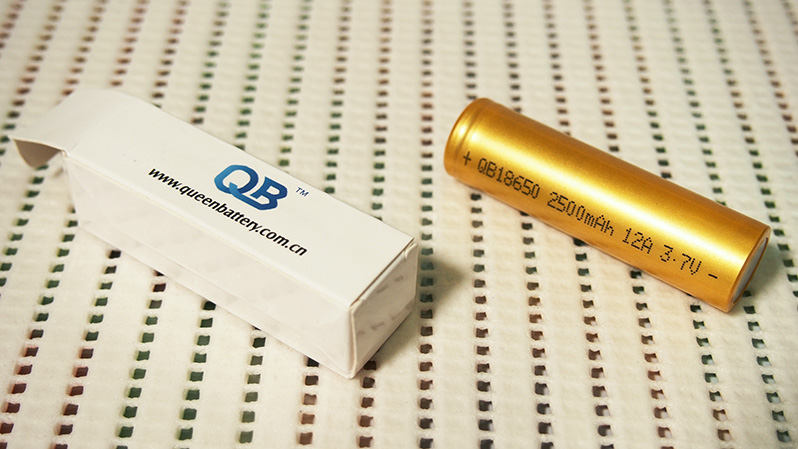Queen Battery QB18650 2500mAh capacity test comparison with QB18650 2600mAh | Thunderheart Reviews