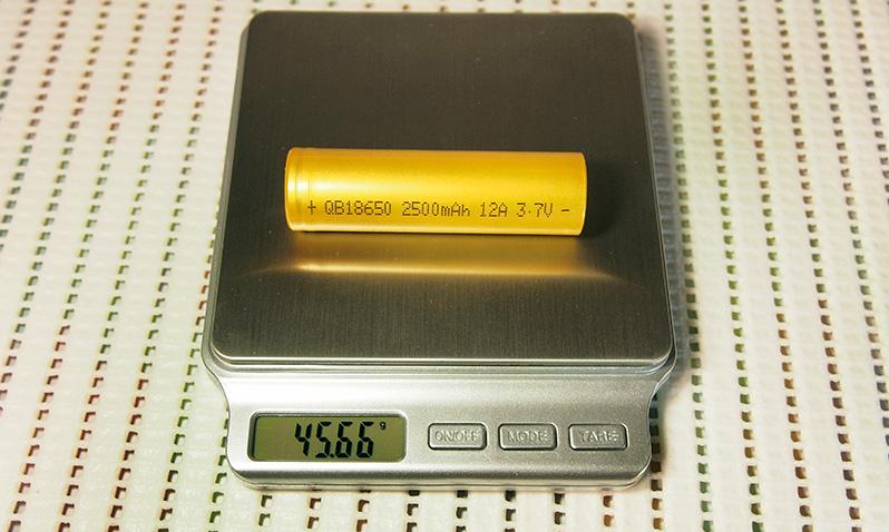 Queen Battery QB18650 2500mAh capacity test comparison with QB18650 2600mAh   Thunderheart Reviews   18650 Li-ion battery cell