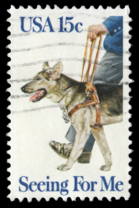 seeing eye dog stamp