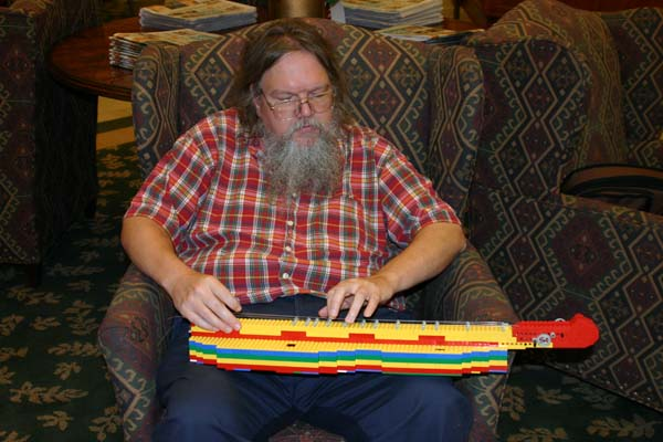 Peter Always and his Lego Dulcimer