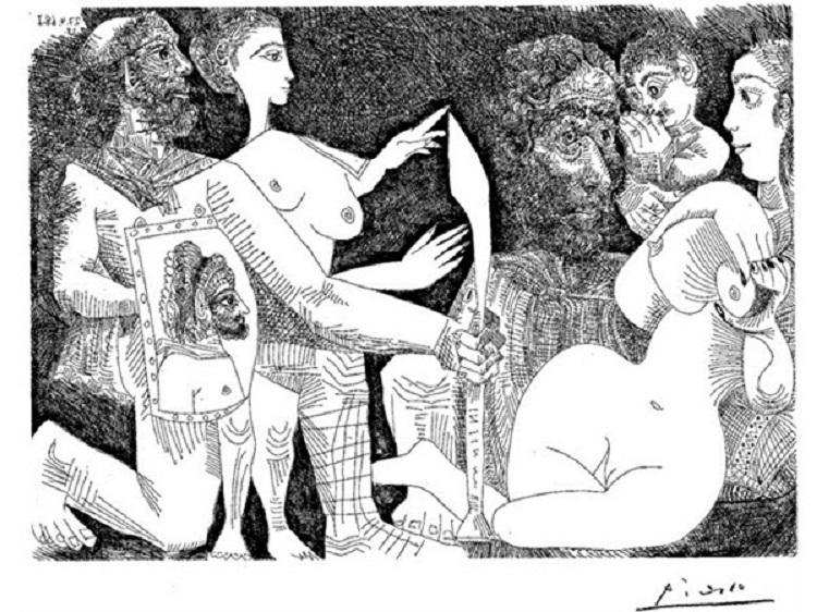 гравюры пикассо: