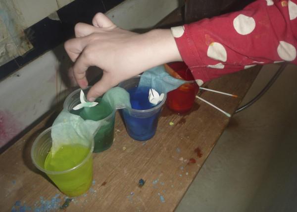 разноцветные стаканчики