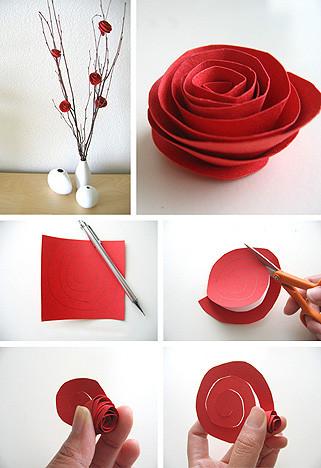 papír-rózsa