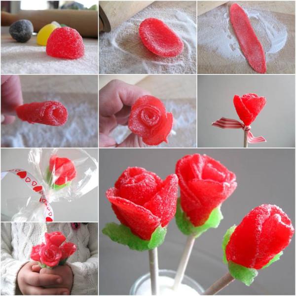 Creative-Ideas-DIY-Beautiful-Gumdrop-Rose-Bouquet