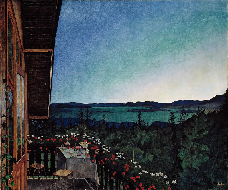 Harald Sohlberg - Summer Night