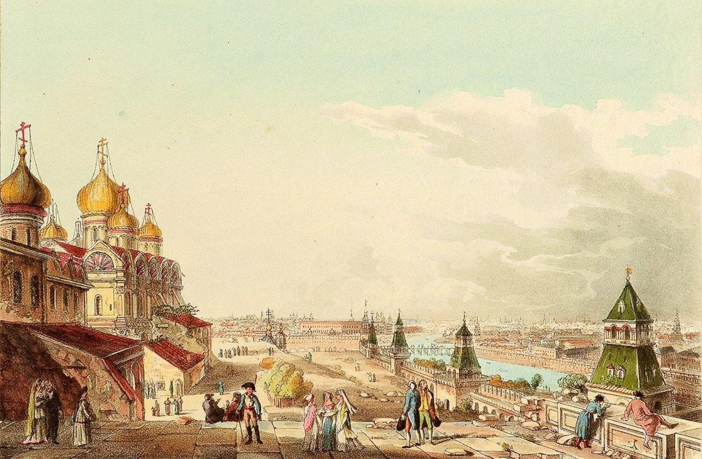 Вид Москвы с балкона Императорского дворца по левую сторону