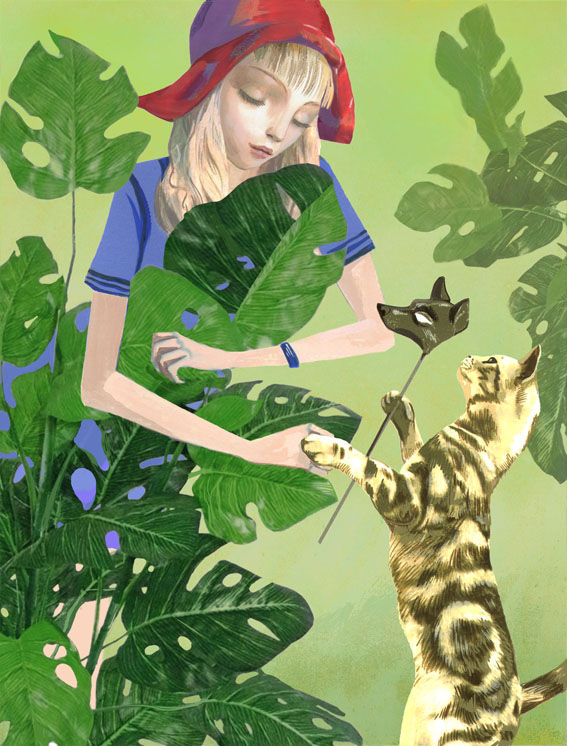 Cats and the City / художник Виктория Фомина