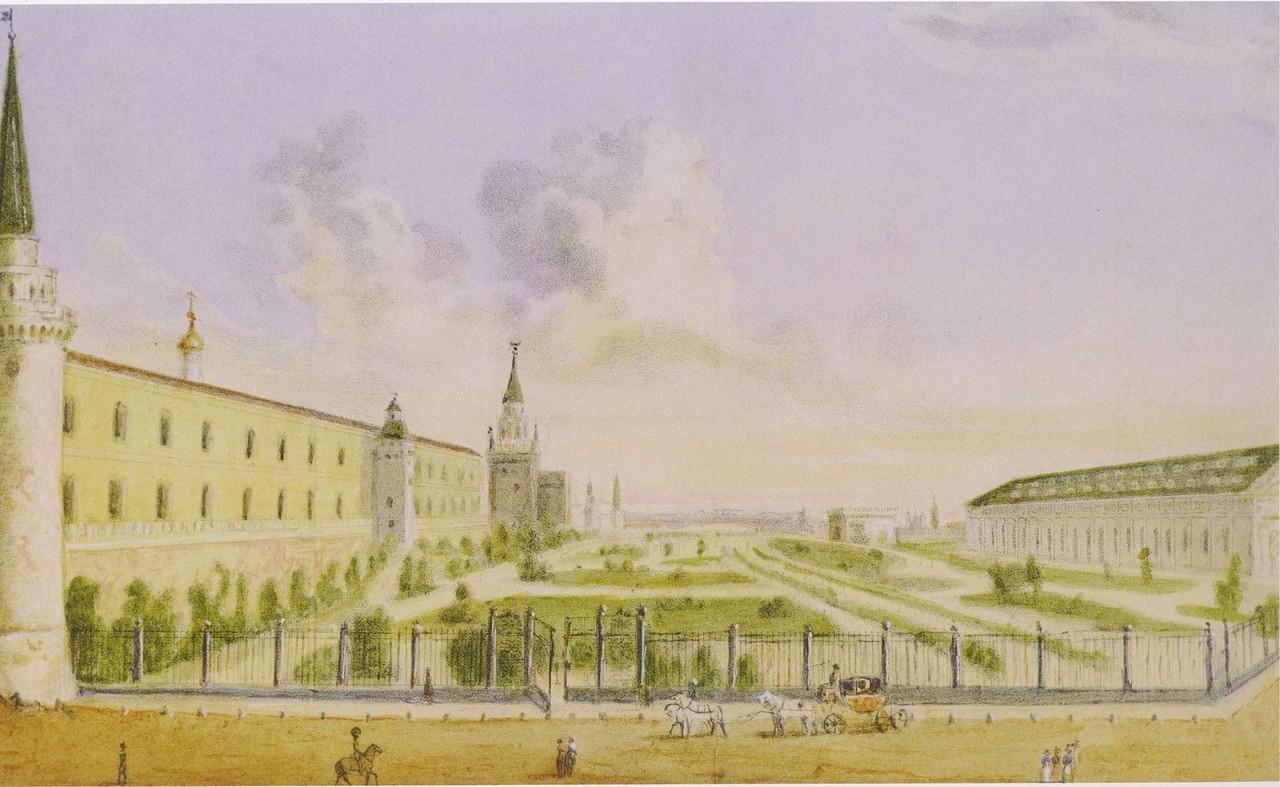 463455 Вид Кремлёвского сада.jpg Н.И. Чичагов по рисунку Н. Жерена 1827.jpg