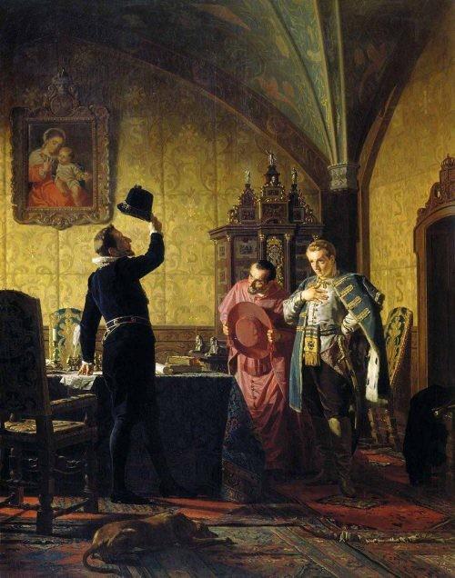 Присяга Лжедмитрия I польскому королю Сигизмунду III на введение в России католицизма.