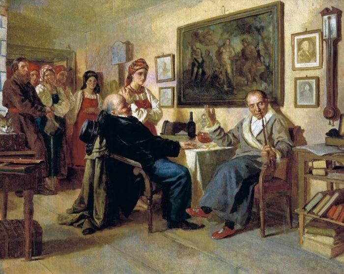 Торг. Сцена из крепостного быта.1866   ГТГ