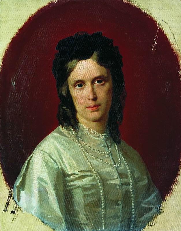 Портрет неизвестной  1871.