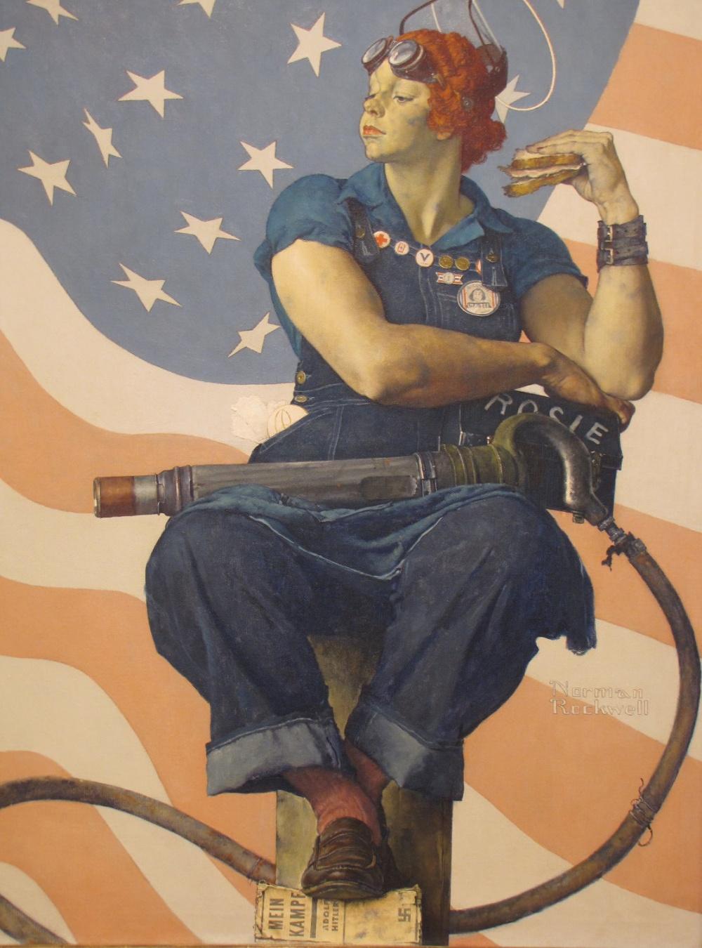 В США во время Второй мировой войны началась национальная кампания с целью побудить женщин, никогда