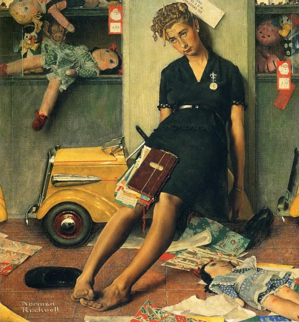 Картины Роквелла — настоящие мини-истории о повседневной жизни. Иной раз даже появляется ощущение, ч