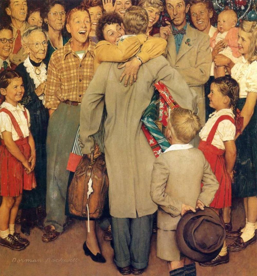 Одна из самых знаменитых работ художника — о Рождестве. Чтобы сделать эту картину по-настоящему живо