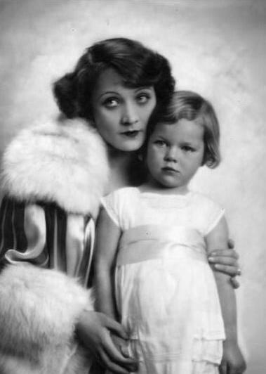 Marlene Dietrich & her daughter Maria