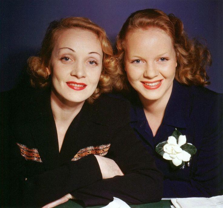 Марлен Дитрих и её дочь Мария